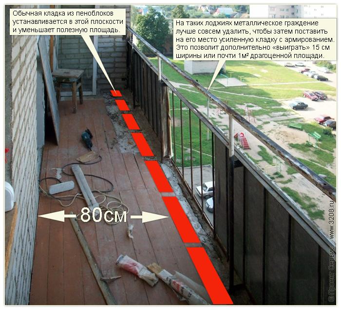Как сделать парапет на балконе фото