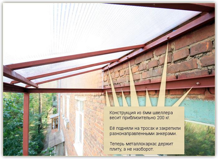 """Проект сервис"""" - нестандартные работы при остеклении балконо."""
