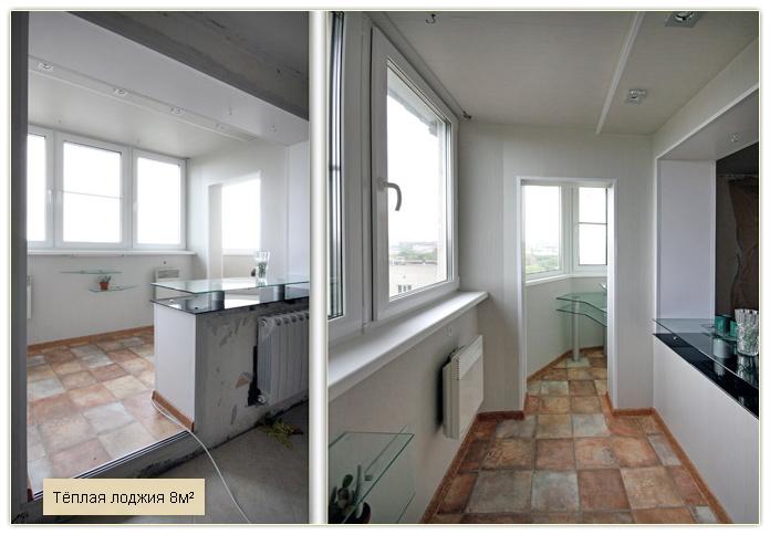 Фото объедененныхс комнатой балконов с остеклением.