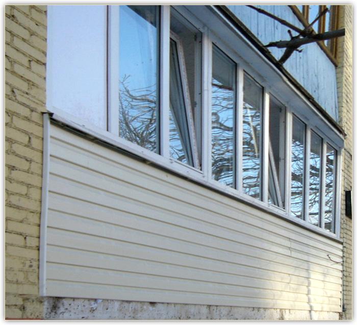 """Проект сервис подольск"""" - наружная обшивка балкона сайдингом."""
